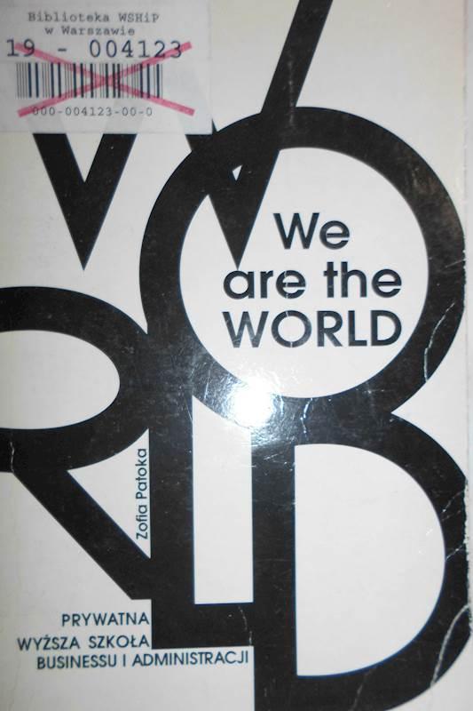 We Are The World Język Angielski Patoka 24h Wys