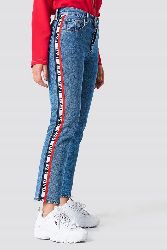 d88f66f5d LEVI'S LEVIS 501 CROPPED LAMPASY JEANSY NOWE 23/26 - 7667491141 ...