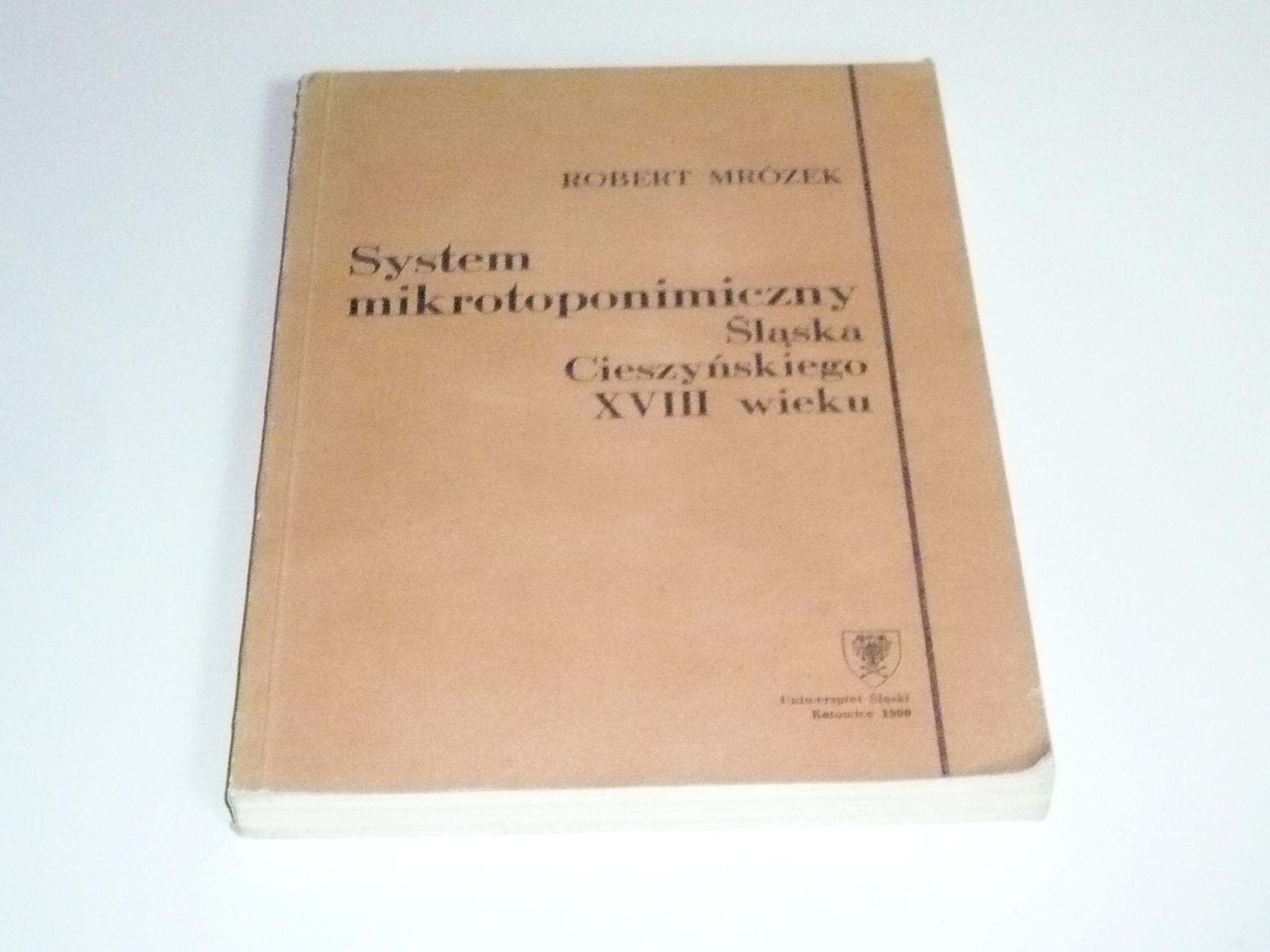 System Mikrotoponimiczny śląska Cieszyńskiego Xvii
