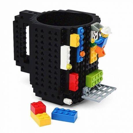 Klockowy Kubek Lego Czarny 350ml Klocki Lego 7260985347