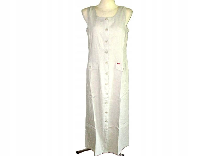 7946382481 Sukienka lniana Sancred roz.44 kremowa - 7395044623 - oficjalne ...