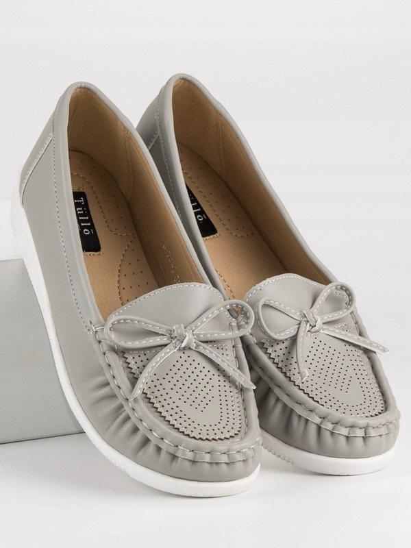 0e93ea3977d3b SZARE MOKASYNY DAMSKIE 36 szare obuwie buty zima - 7355665141 ...