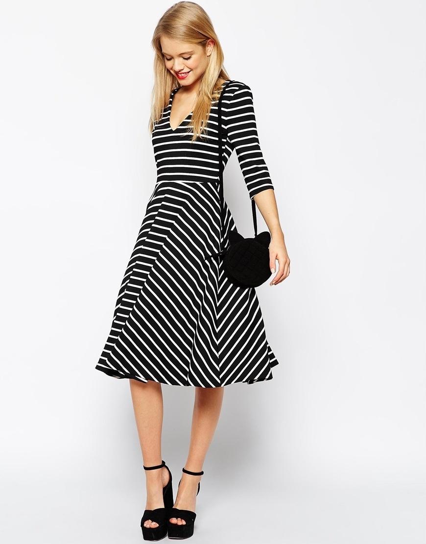 6cf4024f67 Asos elegancka sukienka w stylu retro paski roz.38 - 7585222170 ...