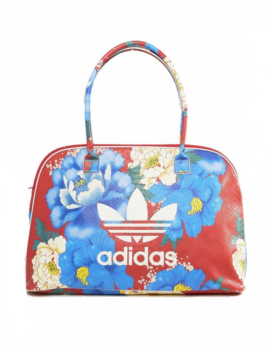 df8bac7235338 adidas originals torba podróżna czerwona kwiaty - 6981337416 ...