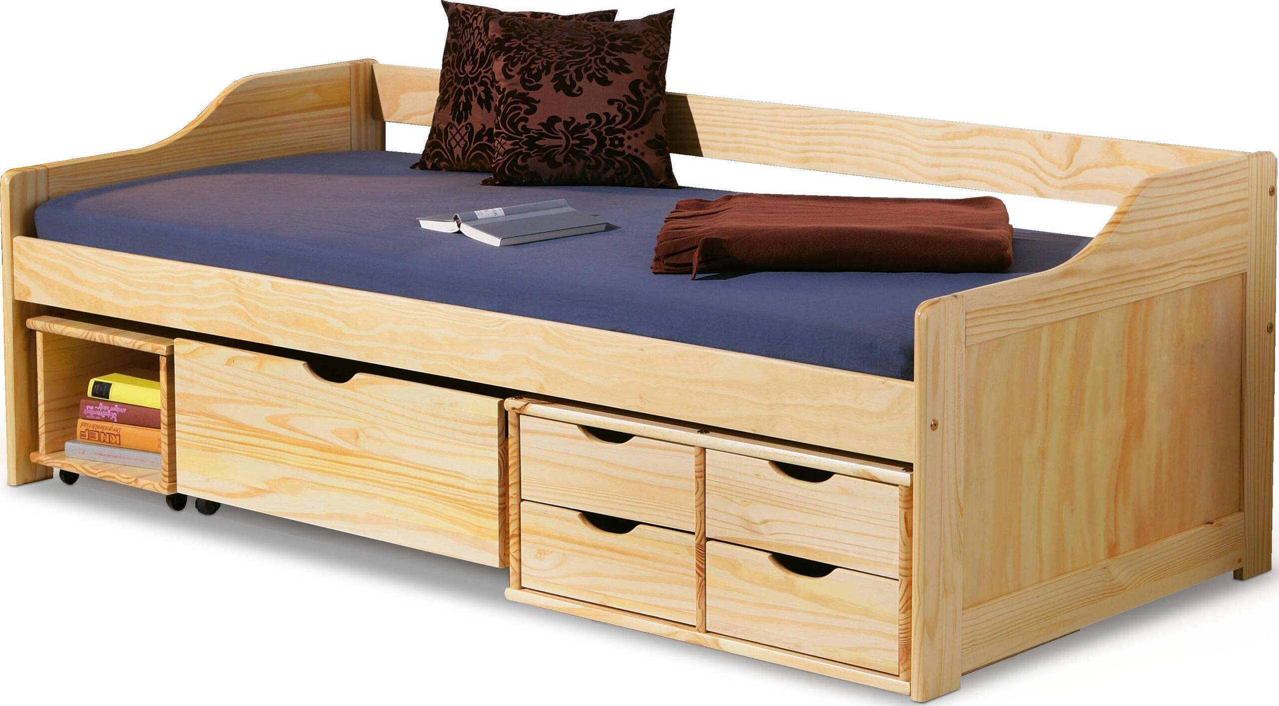 łóżko Młodzieżowe Drewniane Maxima Sosna 24h 6684106645