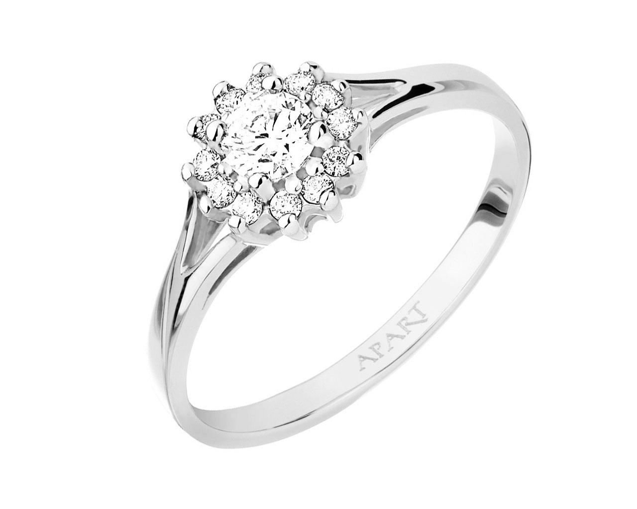 Pierścionek Apart Brylant Diament Zaręczyny 14 7081701578