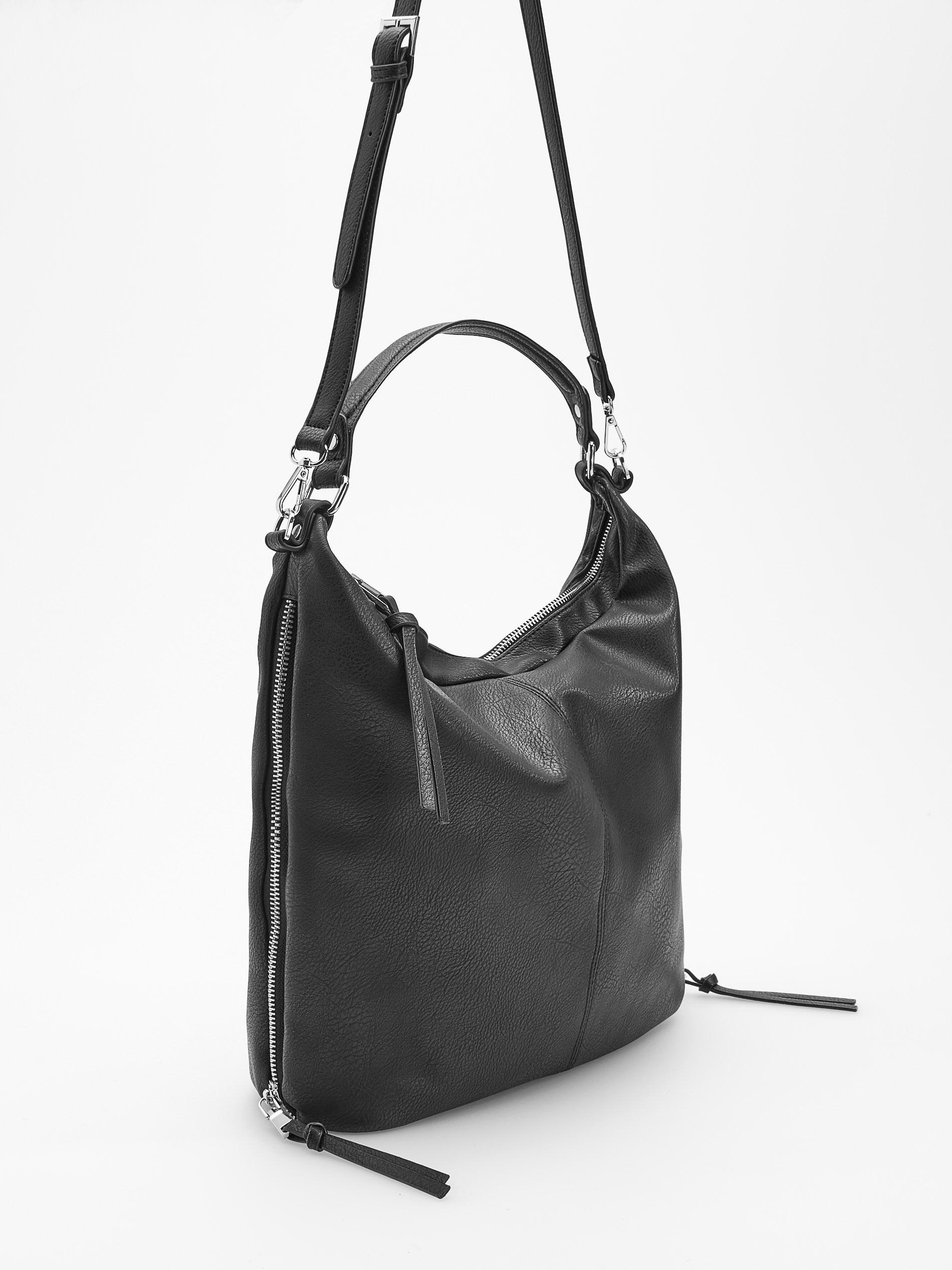 9aab9035b41e4 Czarna torebka do ręki i na pasku Reserved zamki - 7721310227 ...