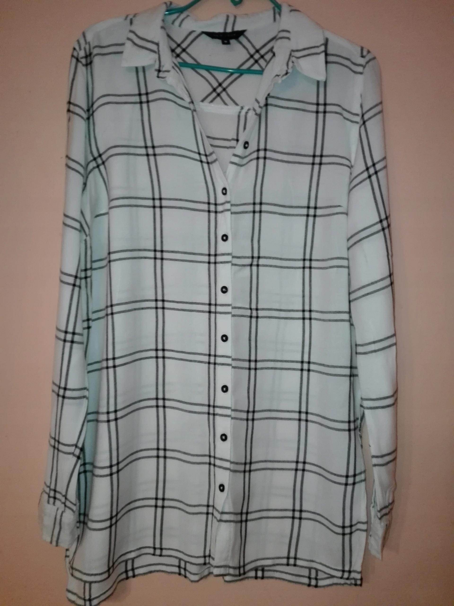 761e2d65a Dłuższa,lużna koszula w kratę NEW LOOK r 38 - 7711526851 - oficjalne ...