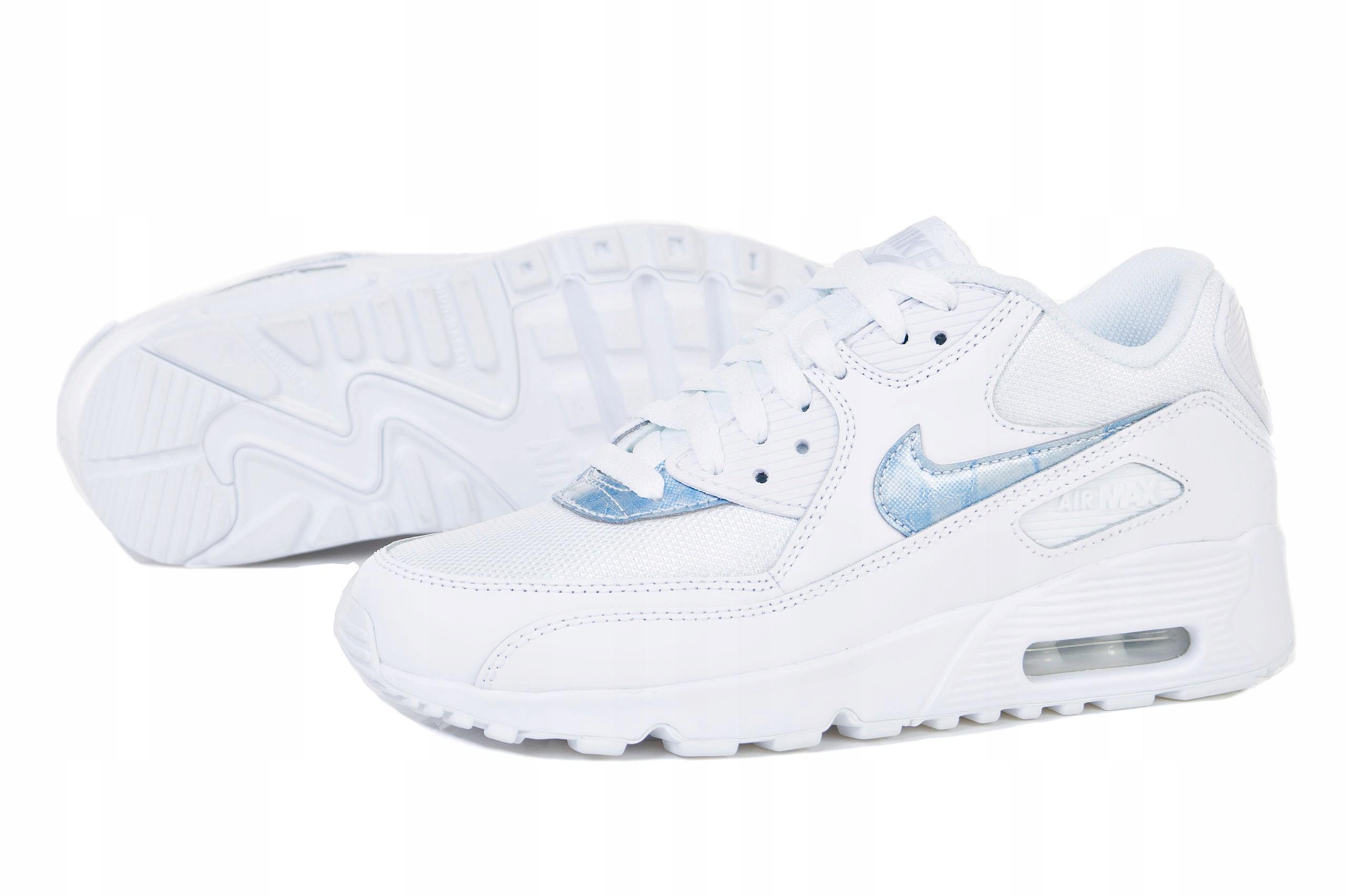 Buty Nike Air Max 90 Mesh (GS) 833418 111 BIAŁY