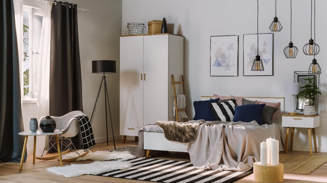 Sypialnia W Stylu Skandynawskim Allegropl