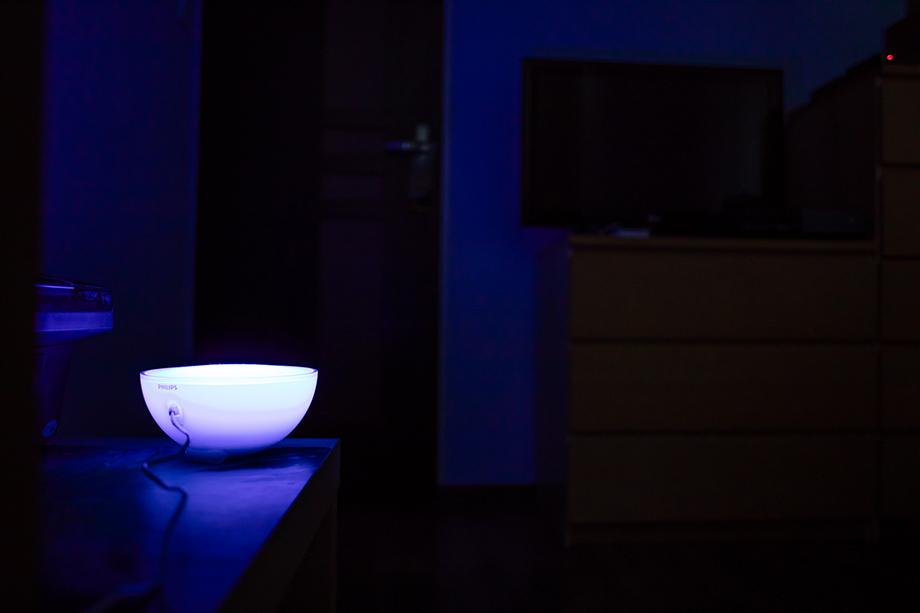 Lampa Philips v miestnosti