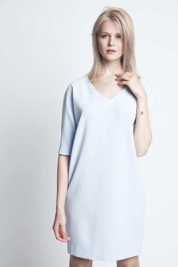Sukienka ECHO ZITA 2-13318-116065-170220 niebieski S