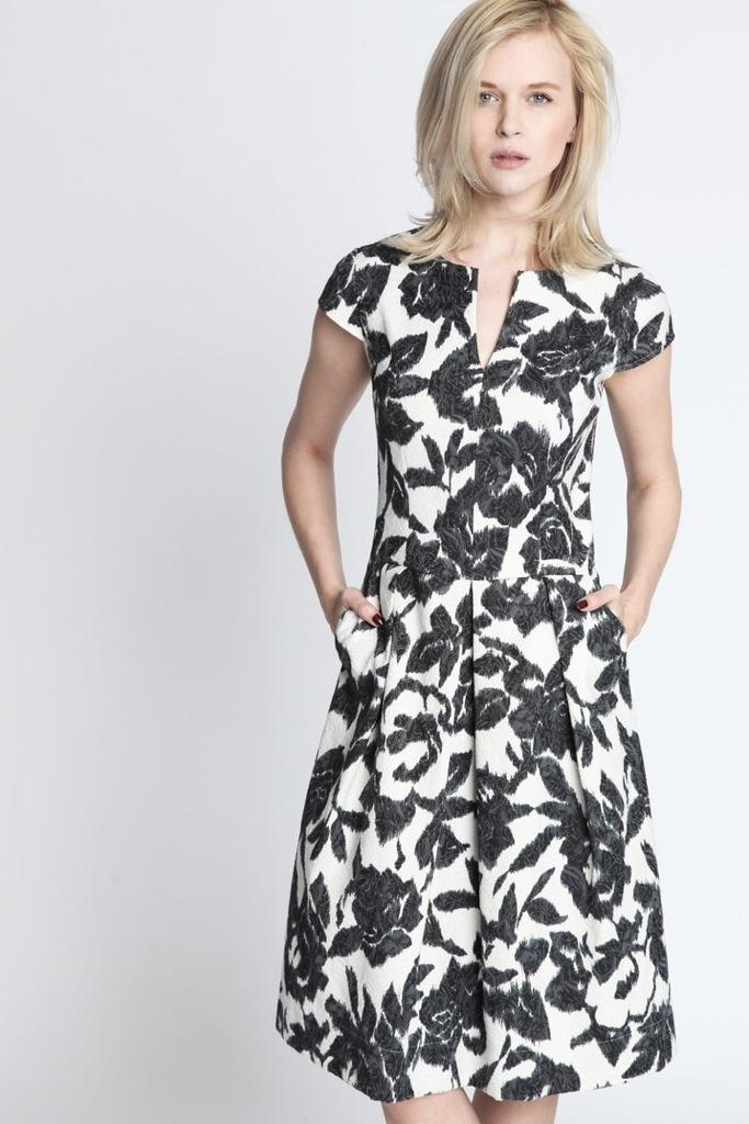 Sukienka ECHO MALWINA 2-16945-116158-090120 biały, czarny S