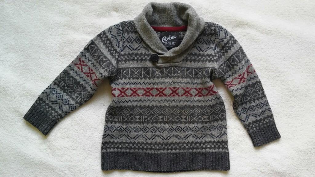 Fajny sweterek dla chłopca Rebel r. 98 (2-3l.)