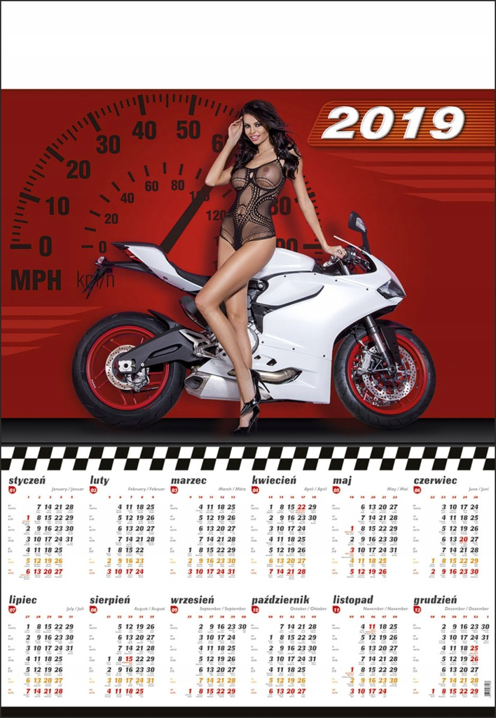Kalendarz Plakatowy B1 2019 Dziewczyny Akty Tanio 7644867071 Oficjalne Archiwum Allegro