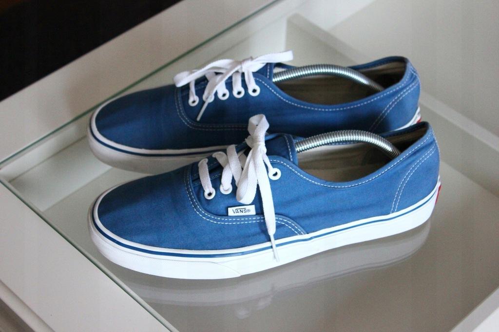 Tenisówki trampki blue Vans Off tHE Wall 44 7586408325