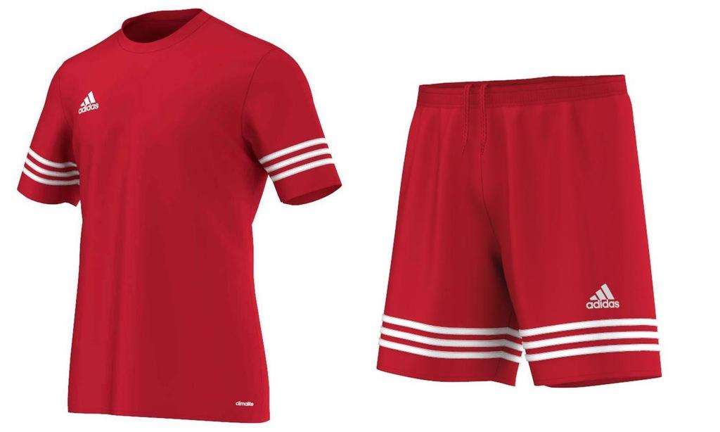 Adidas Entrada14 Komplet Męski Sportowy Czerwony L