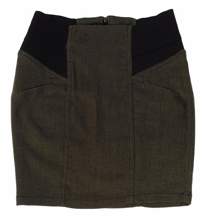 BERSHKA zestaw: spódnica + kamizelka 34 XS