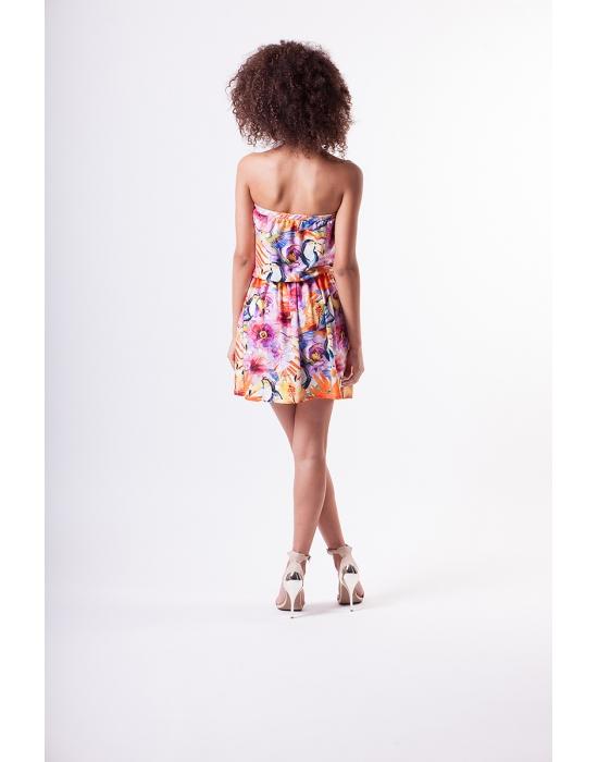 Kolorowa sukienka bez ramion MOSQUITO 40L12