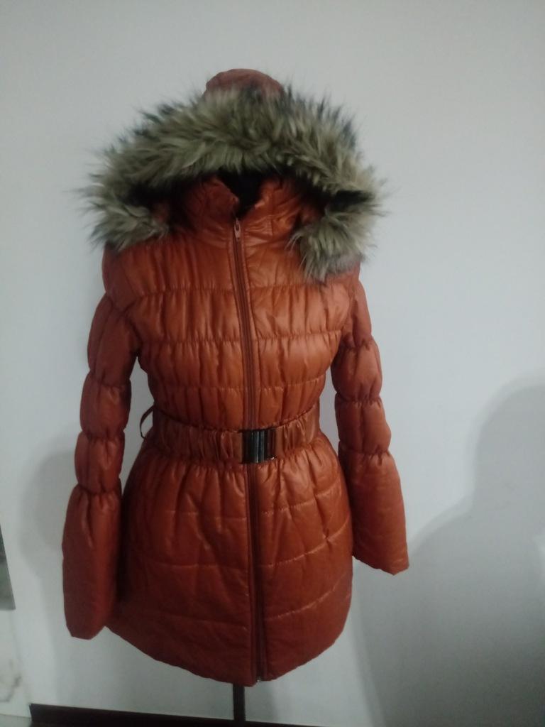 Włoski Płaszcz kurtka zima puchowa made in Italy L