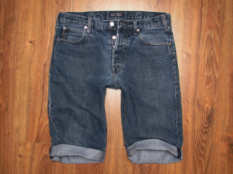 ARMANI jeansy bermudy SPODENKI pas 85
