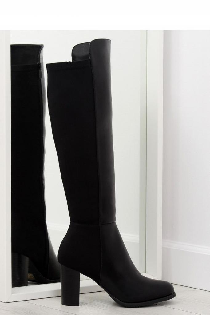 Kozaki z elastyczną cholewką czarne VQ 3 BLACK,Obuwie, Buty