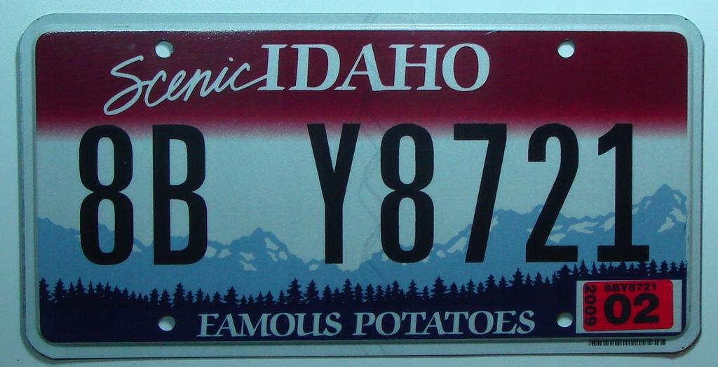 Idaho Tablica Rejestracyjna Z Usa 7449557782 Oficjalne Archiwum Allegro