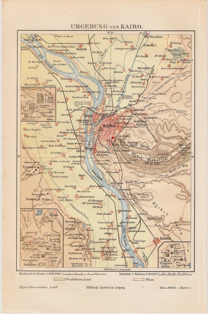 EGIPT KAIR I OKOLICE  ROK 1896