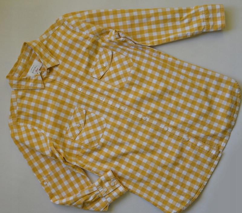 Koszula w kratkę kratę żółta annel taliowana 42XL  2tDUK