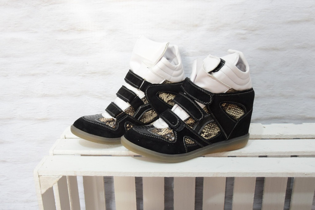 Sneakersy Ulmani 19803 skóra czarno złote 37