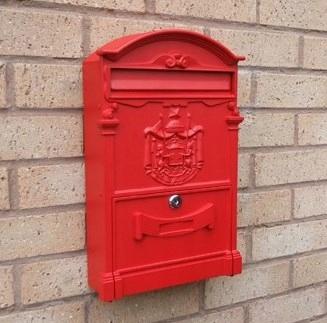 Czerwona Skrzynka Na Listy Metalowa 42x25x8cm 7700228503 Oficjalne Archiwum Allegro