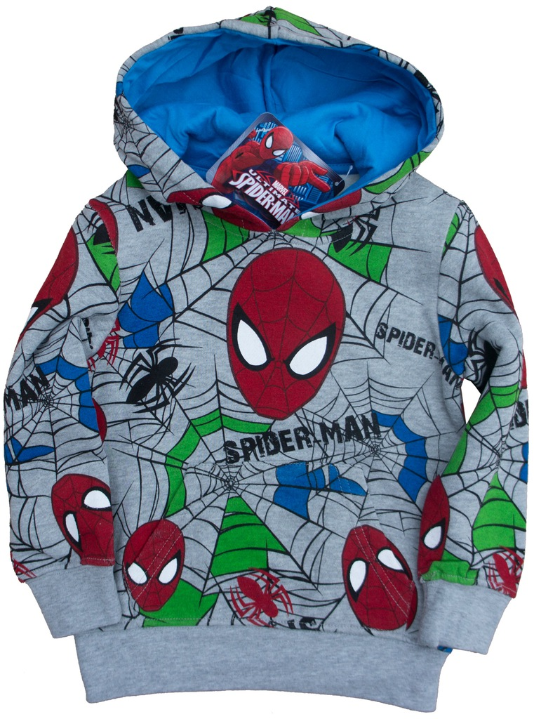 Bluza Adidas Marvel Spiderman 104 cm 3 4lata czerwona pająk