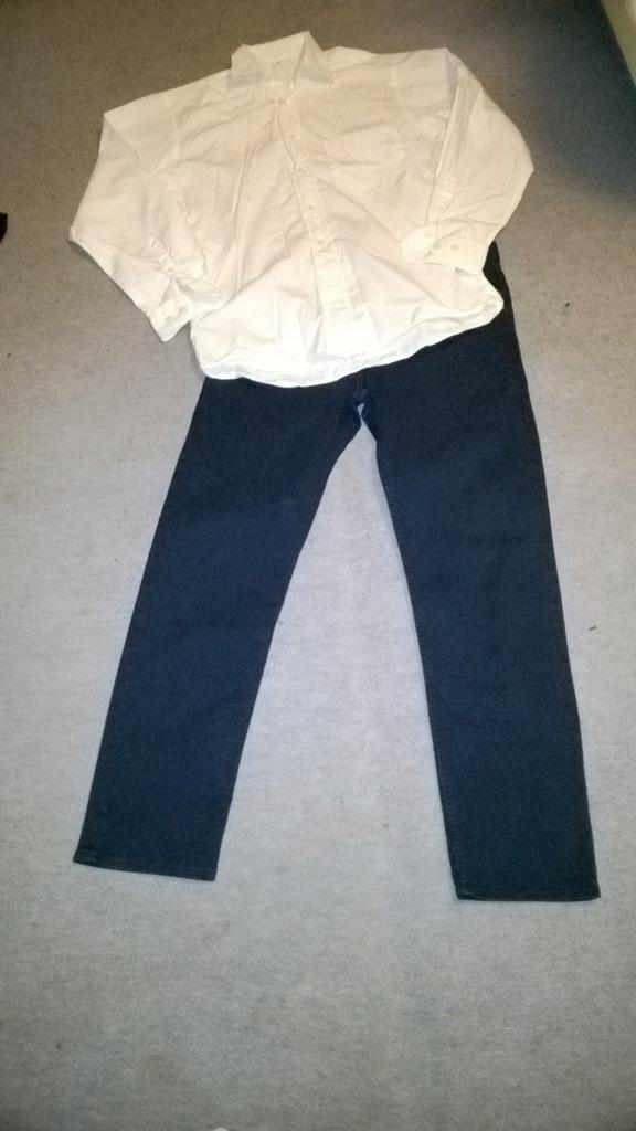 Pierre Cardin koszula M biała i spodnie 32 H&