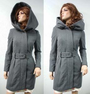płaszcz zimowy damski z kapturem zara