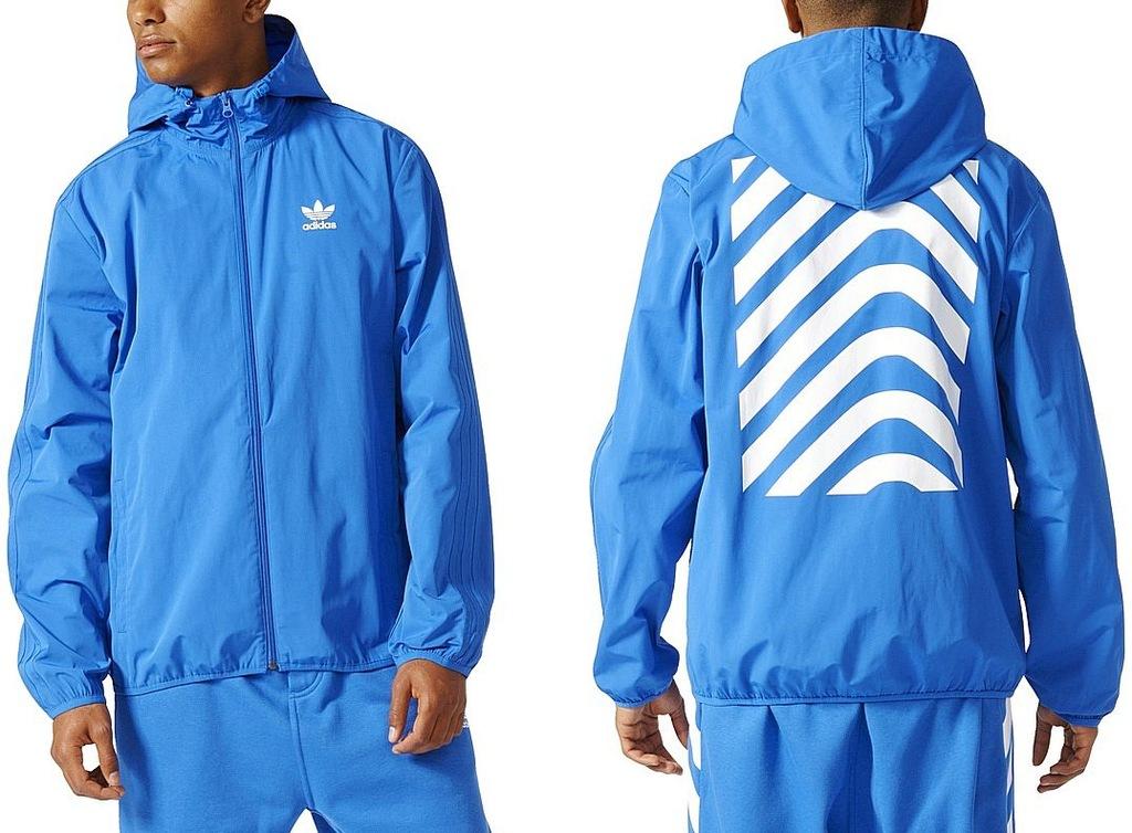 Adidas Kurtka NYC HERRINGBONE (XL) Męska Wiatrówka
