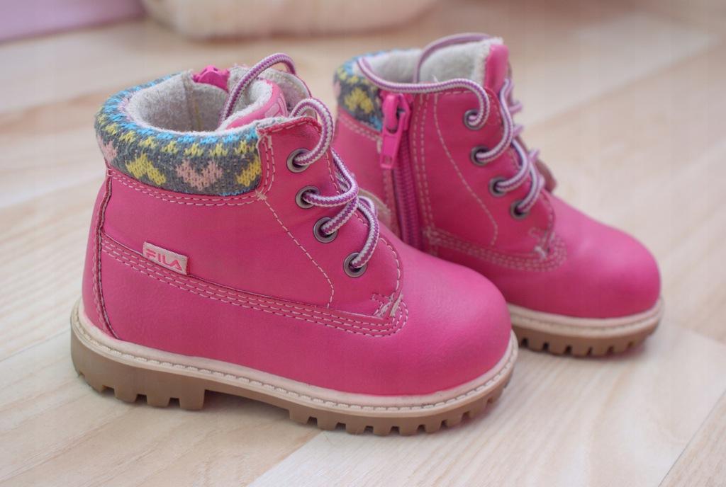 buty,trapery dziewczęce ocieplane Fila rozm.21