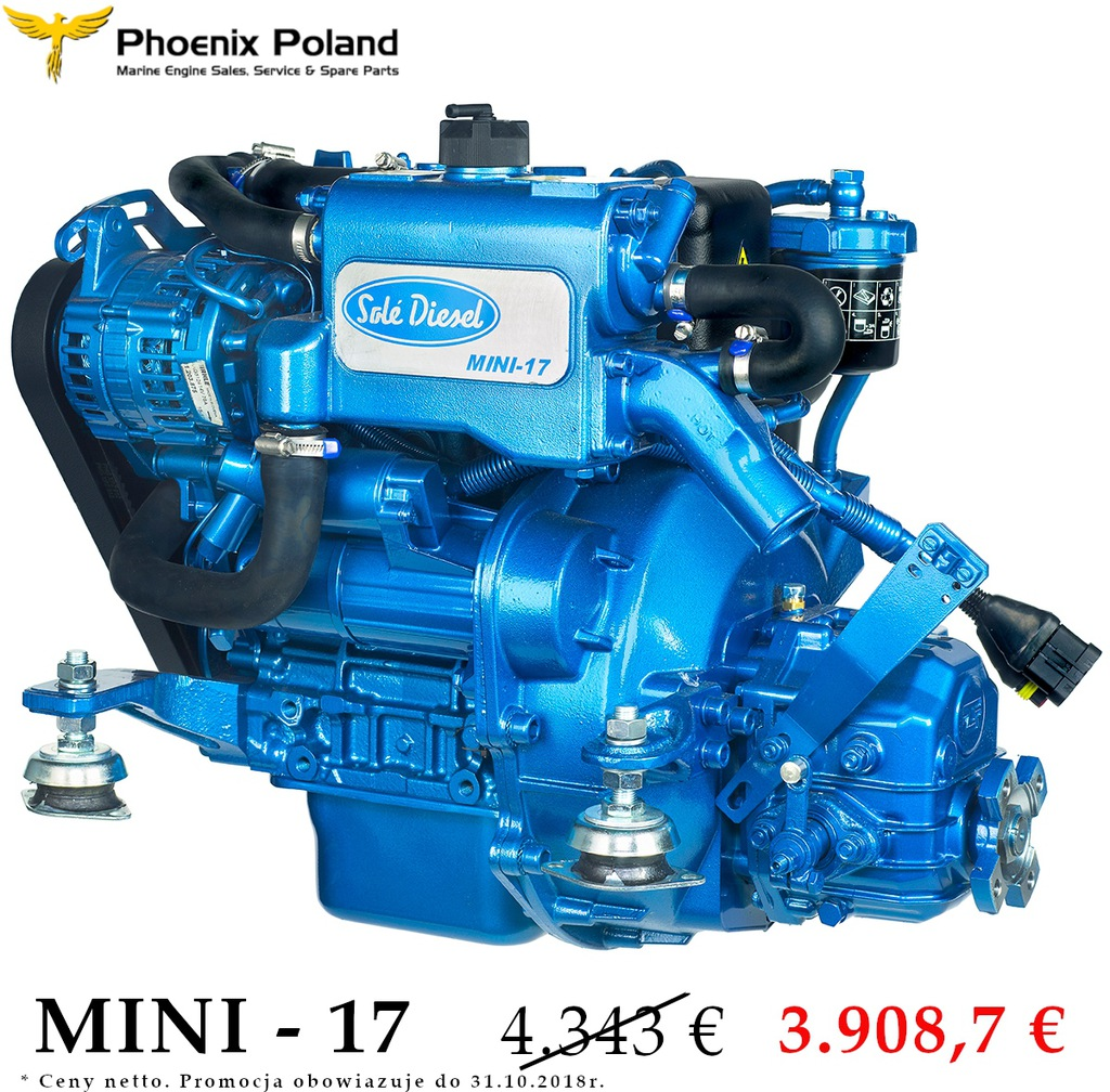 Promocja Silnik Sole Diesel MINI-17, 16 KM przekła