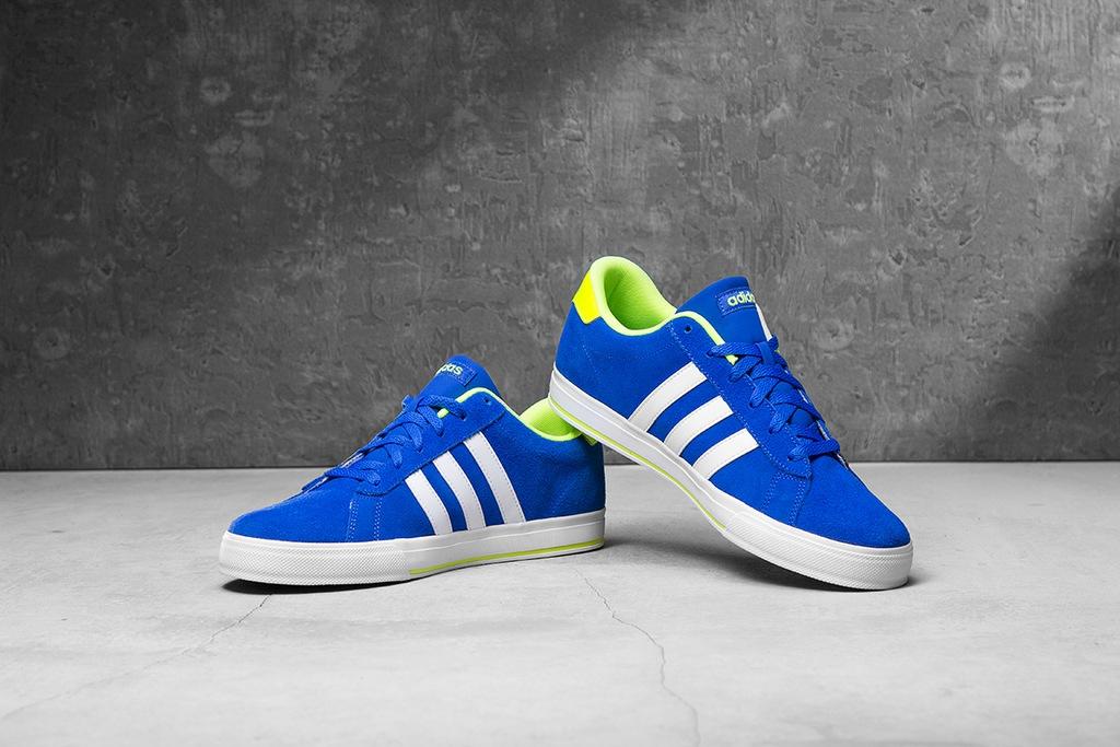 buty męskie adidas neo daily f99636 niebieskie