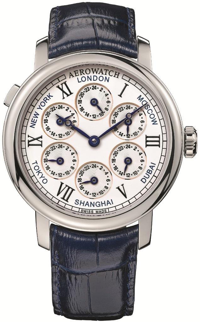 PROMO! Aerowatch Renaissance 7 Time Zones 51974 AA