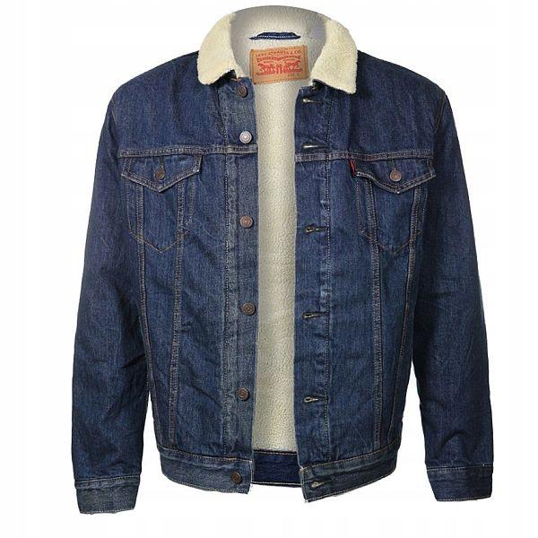 Kurtka katana jeansowa Levi's Sherpa Trucker XL