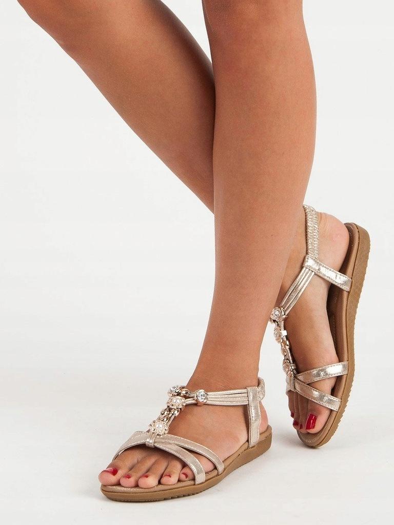 GOKKE Stylowe sandały skórzane DAMSKIE 36 45 r. 36