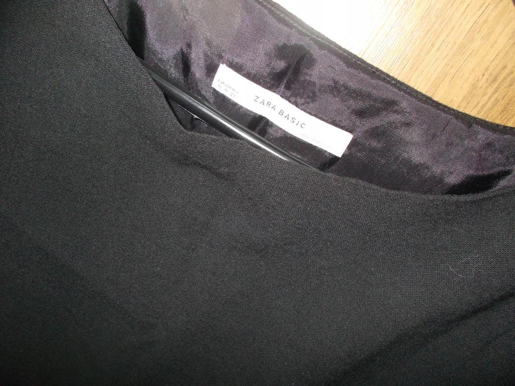 ZARA czarna sukienka ciepła obniżony stan 3638
