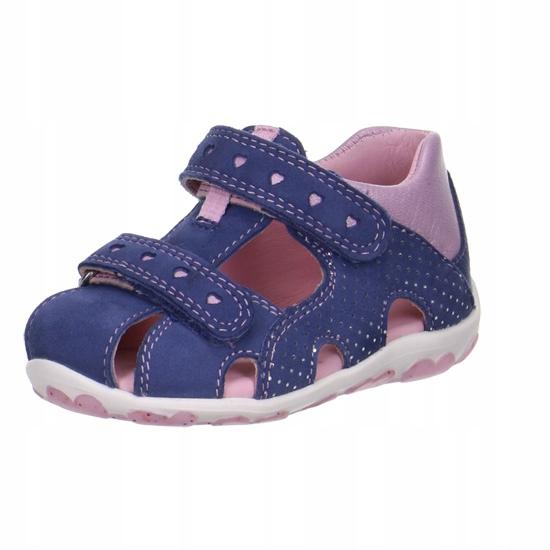 Sandałki, sandały, dla dziewczynki, skóra, R. 27