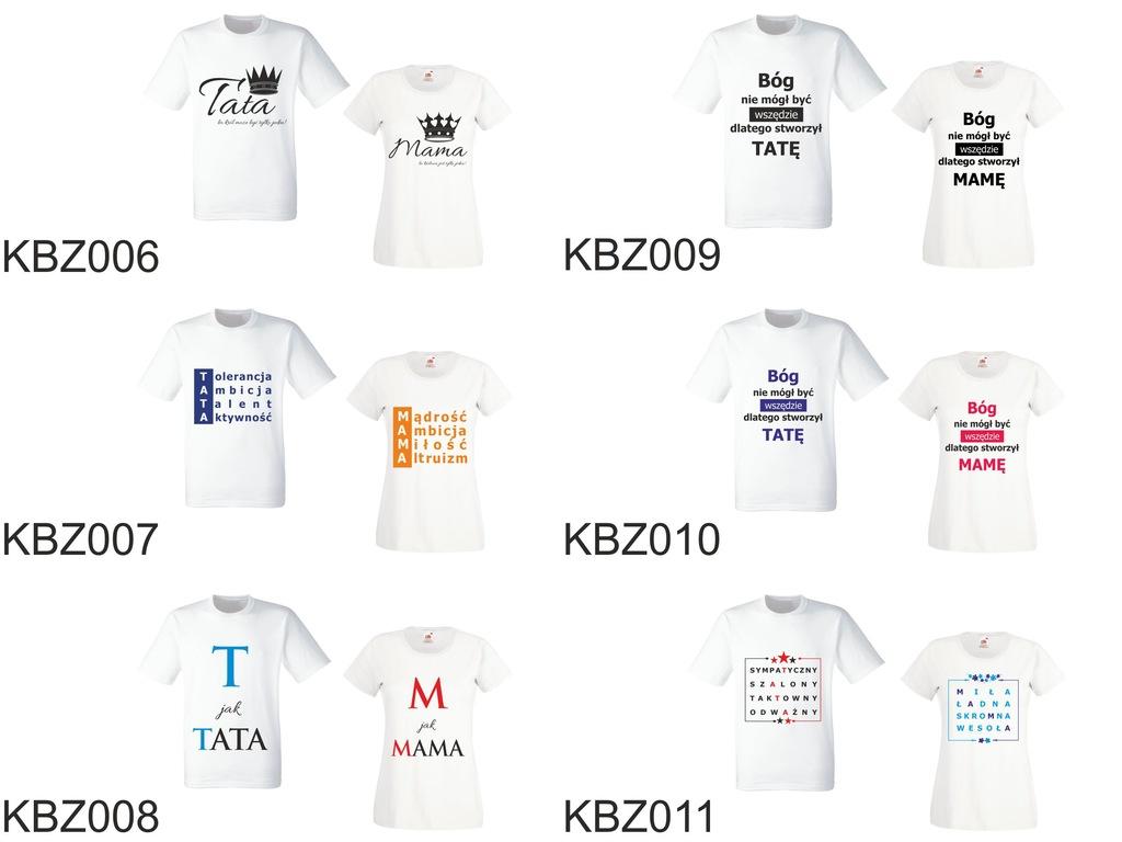 Koszulki Dla Mamy Taty Dzień Ojca Matki 2sz Zestaw  GTbC9