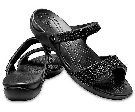 Crocs Cleo V Diamante sandały klapki W8 38