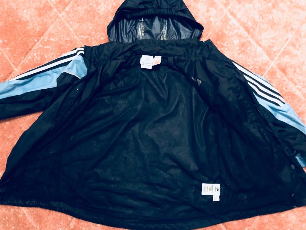 Kurtka Adidas junior granatowa wiatrówka przeciwdeszczowa kaptur Core 18 CV3742