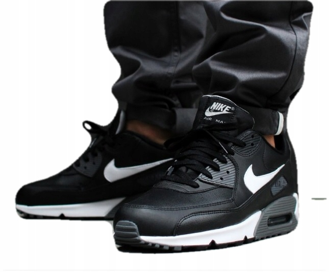 Nike Air Max 90 Essential 2018 Black White | Czarno białe sneakersy