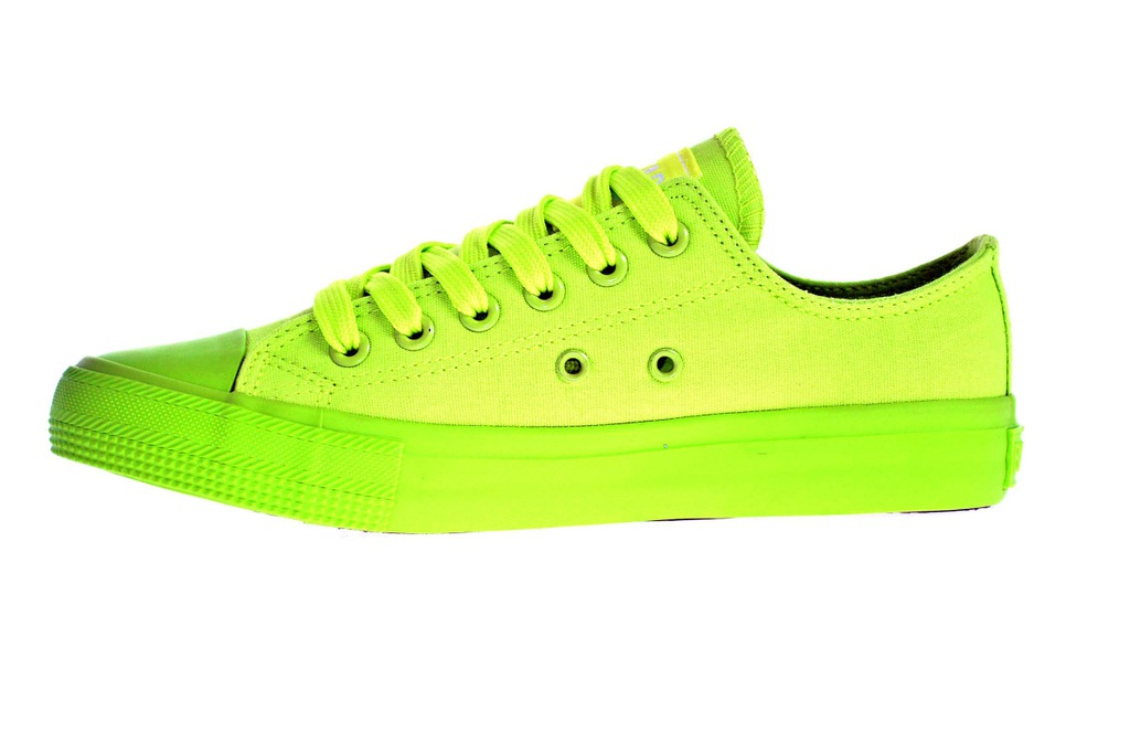Zielone neonowe Trampki BIG STAR W274958 r.38