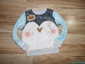 TU modna PUSZYSTA bluza BŁYSK 104-110 BDB