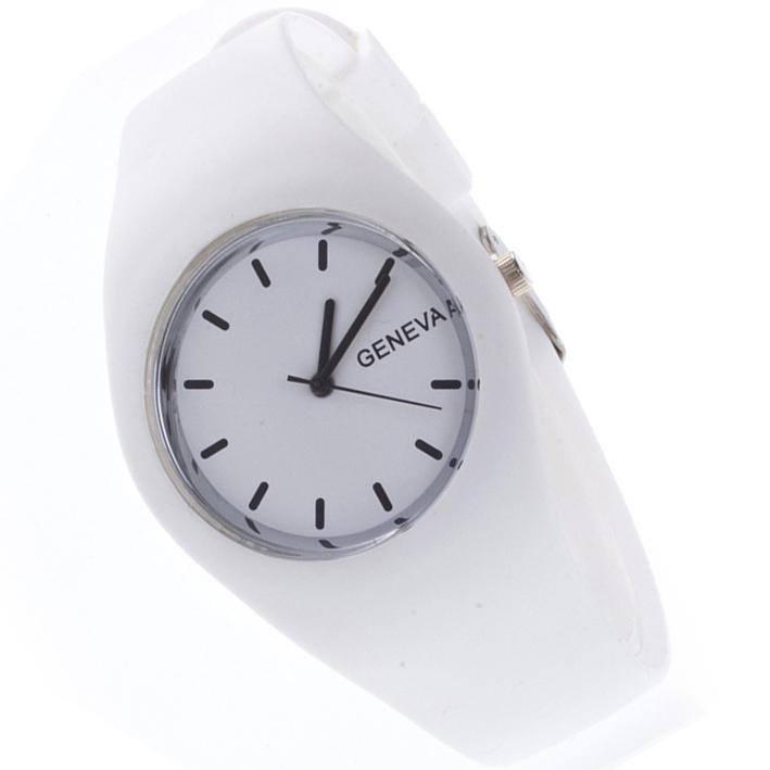 Zegarek żelowy męski zegarek damski biało czarny